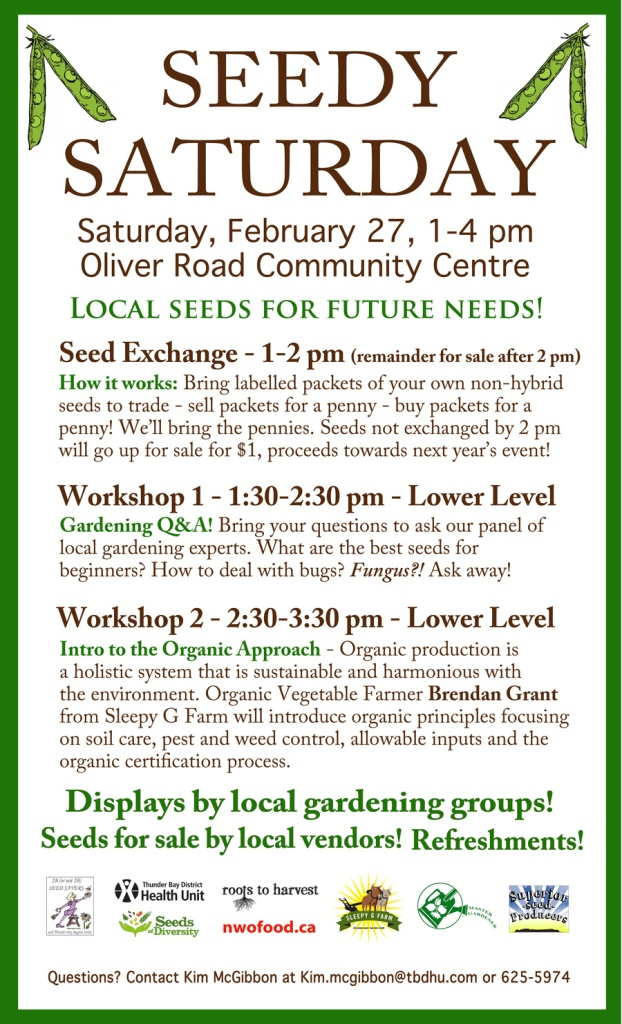 2016 Seedy Saturday Poster