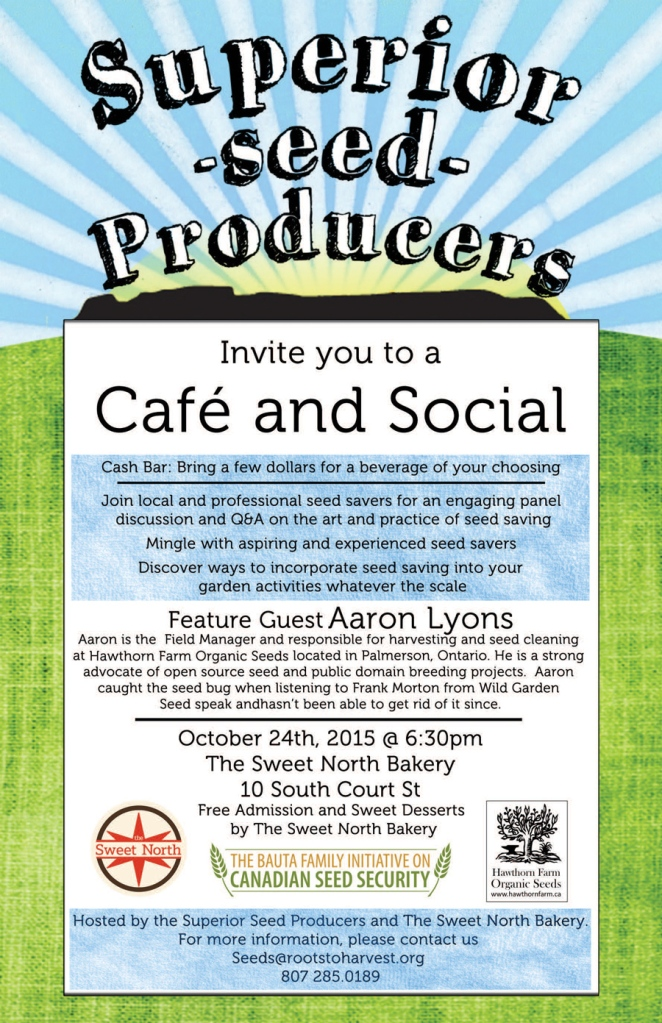Superior Seeds Cafe & Social poster