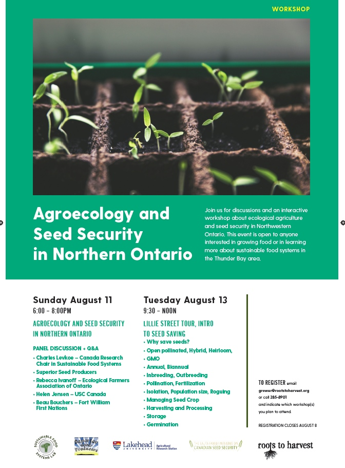 Agroecology ebEvents - Roots to Harvest - AUgust 2019
